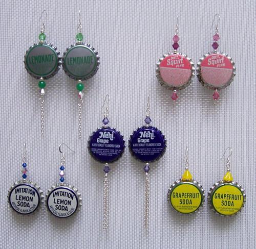 Earring atau Anting Dari Tutup Botol Bekas