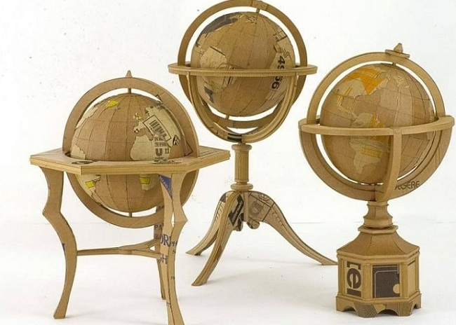 Globe Peta Dunia Dari Kardus