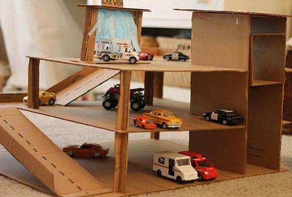 Tempat Mainan Mobil Dari Kardus