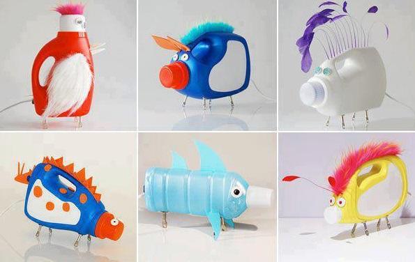 Berbagai Mainan Dari Botol Plastik