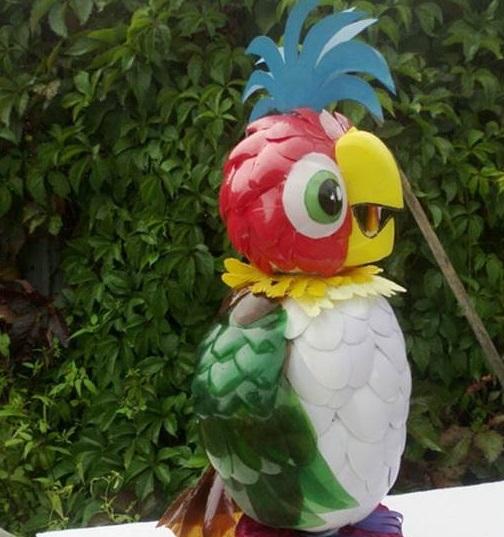 Burung Mainan Dari Botol Plastik Bekas
