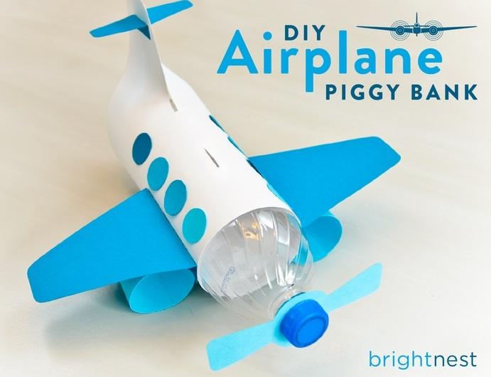 Celengan Pesawat Keren Dari Botol Plastik Bekas