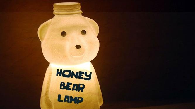 Lampu Beruang Dari Botol Plastik Bekas