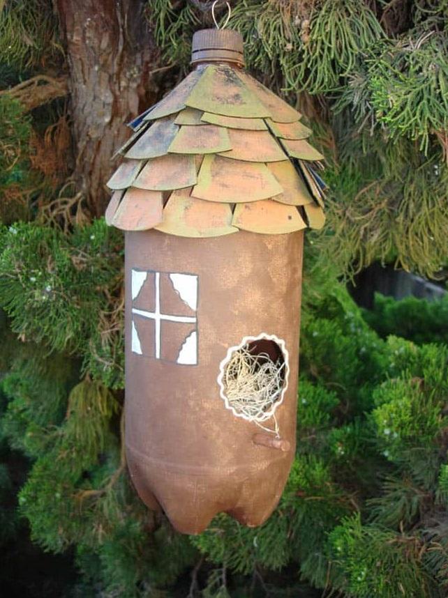 Rumah Burung Dari Botol Plastik