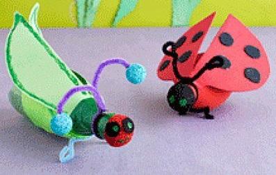 Serangga Mainan Dari Botol Bekas