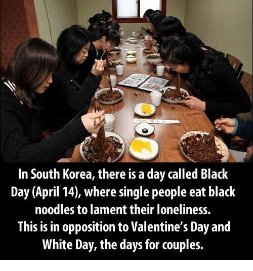 Hari Hitam Untuk Jomblo Di Korea Selatan Via Me.me