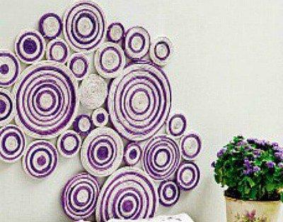 Hiasan Dinding Dari Kertas Via DIY Enthusiast