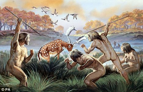 Ilustrasi Manusia Berburu Dalam Kelompok