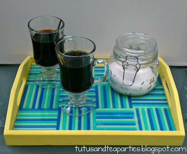 Kerajinan Nampan Dari Anyaman Sedotan Plastik Via Pinterest.com