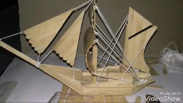 Kerajinan Tangan Dari Stik Es Krim Dengan Bentuk Perahu
