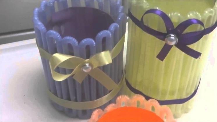 Kotak Pensil Dari Sedotan