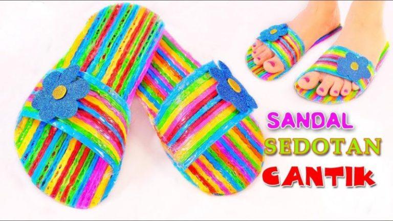 Kreasi Sandal Dari Sedotan Via Santinorice.com