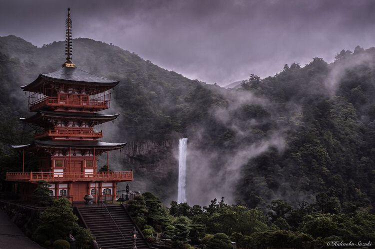 Pemandangan Kuil Di Jepang
