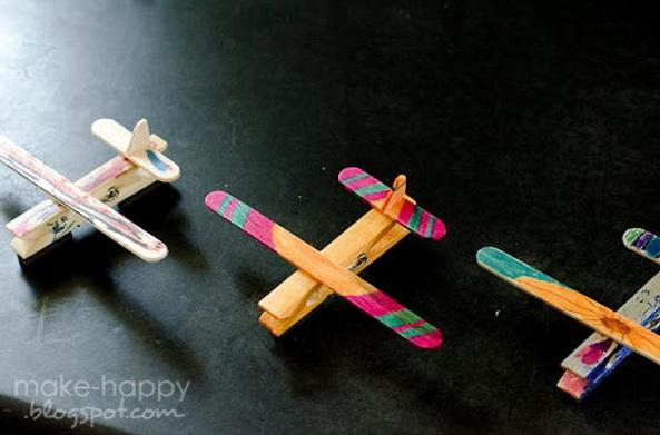 Pesawat Mainan Dari Stik Es Krim