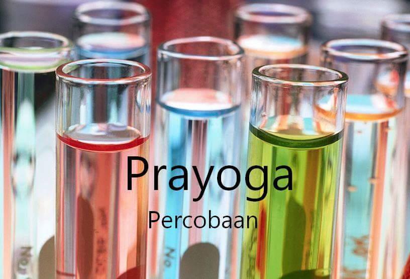 Prayoga Artinya Percobaan