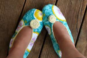 Sandal Rumah Dari Kain Flanel Via Prudentbaby.com