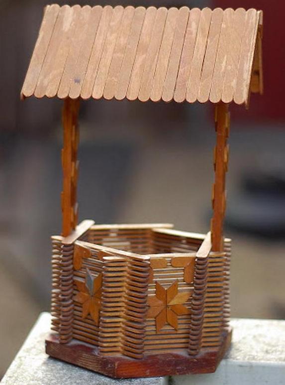 Sumur Mini Dari Stik Es Krim