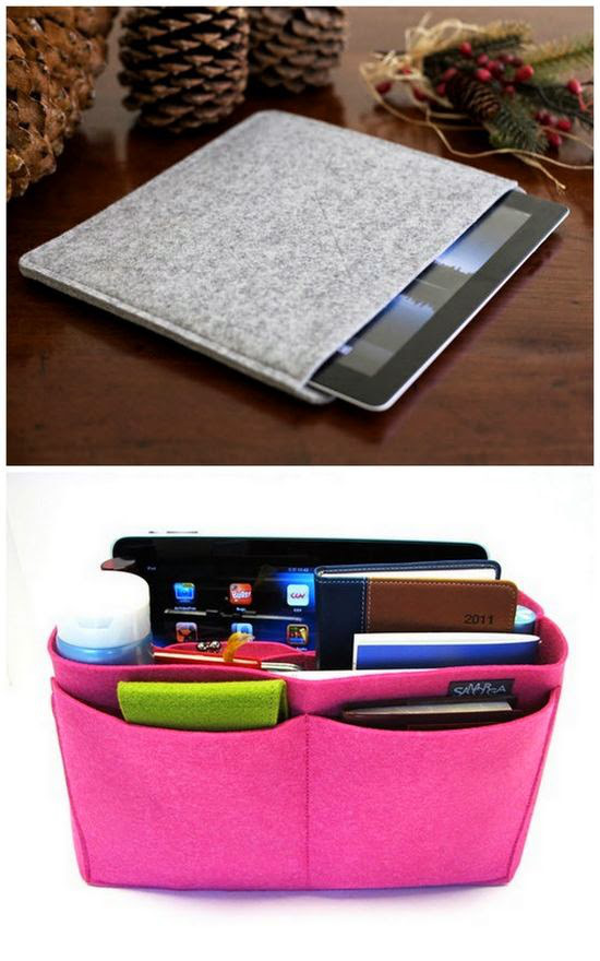 Tablet Case Dari Kain Flanel