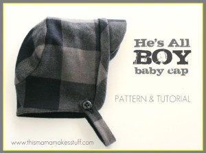 Topi Bayi Dari Kain Flanel Via Thismamamakesstuff.com