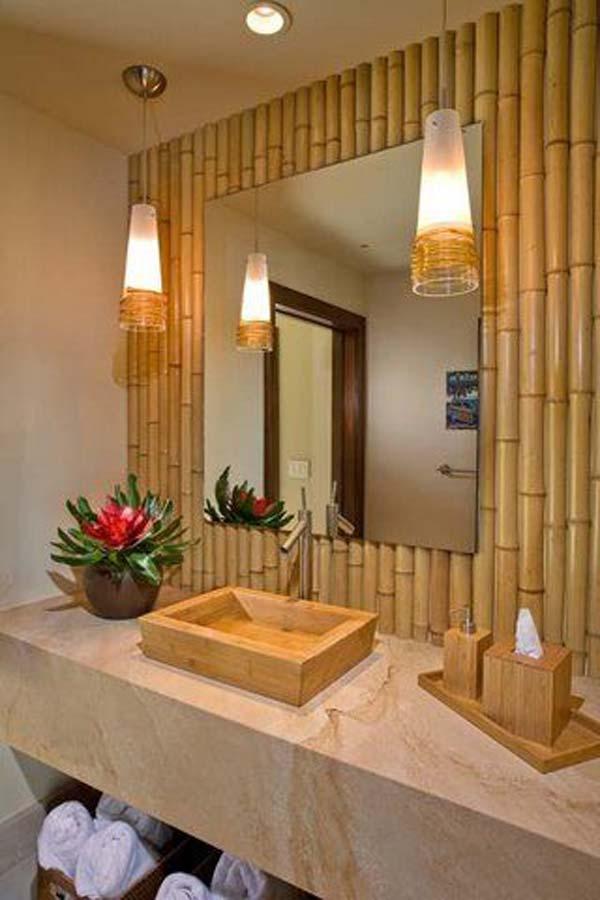 Dinding Pembatas Dari Bambu