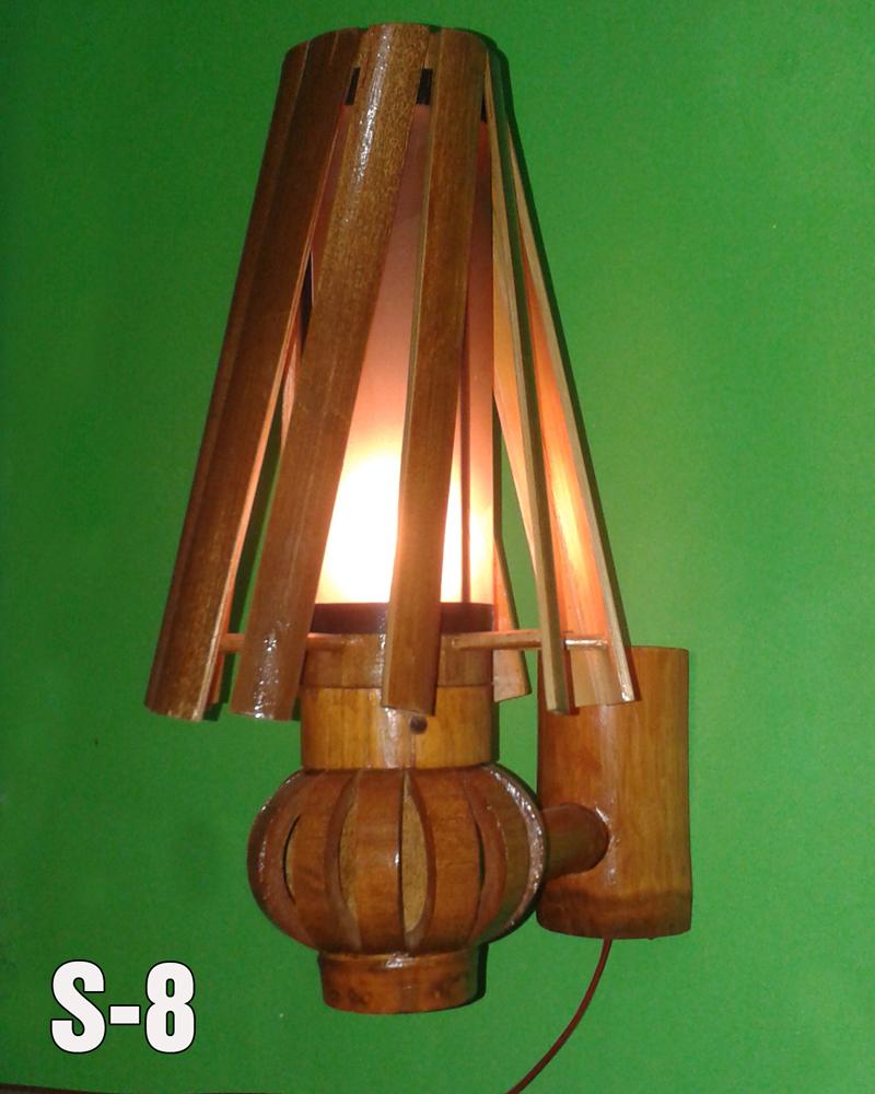 Lampu Teplok Dari Bambu