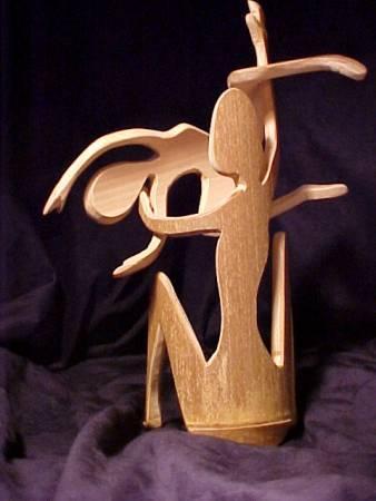 Miniatur Manusia Bambu Oleh Mark Meckes