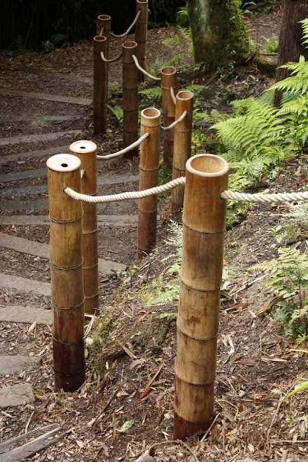 Pagar Taman Dengan Kawat Penghubung