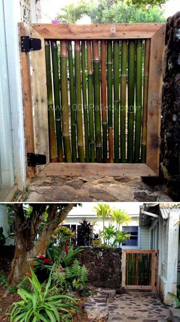 Pintu Pagar Dari Bambu
