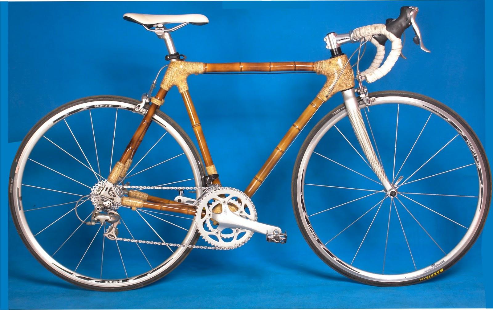 Sepeda Dengan Rangka Bambu