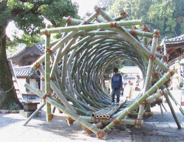 Terowongan Fibonacci Dari Bambu Via Www.starcage.org