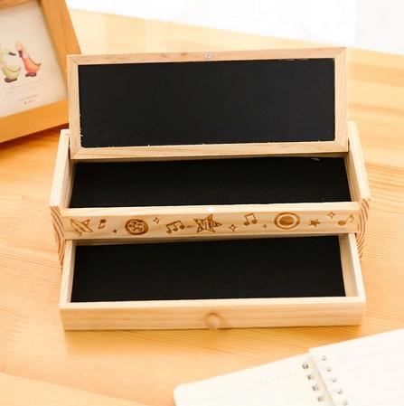 Kotak Pensil Bertingkat Dari Kayu