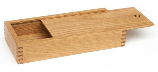 Kotak Pensil Dari Kayu Jati Model Slop