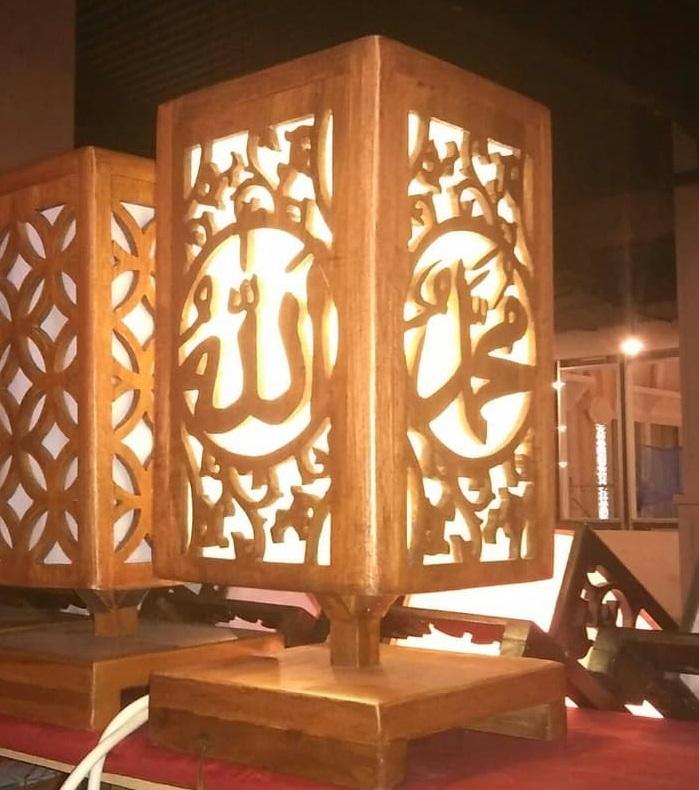 Lampu Hias Kaligrafi