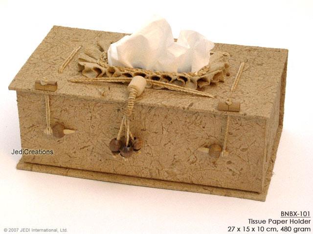 Kotak Tisu Dari Anyaman Pelepah Pisang