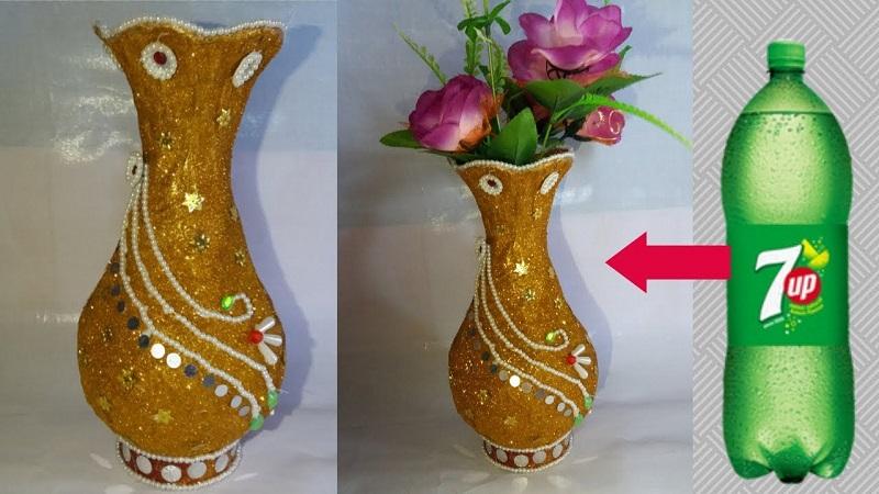 Vas Bunga Dari Botol Plastik