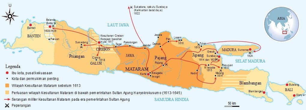 Luas Wilayah Mataram Islam Di Masa Pemerintahan Sultan Agung