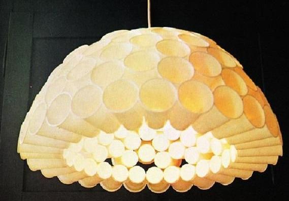 Lampu Gantung Hias Dari Gelas Plastik Bekas