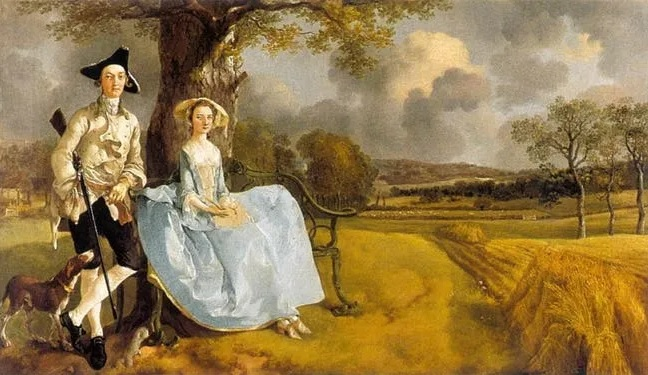 Lukisan Gainsborough Berjudul Tuan Dan Nyonya Andre