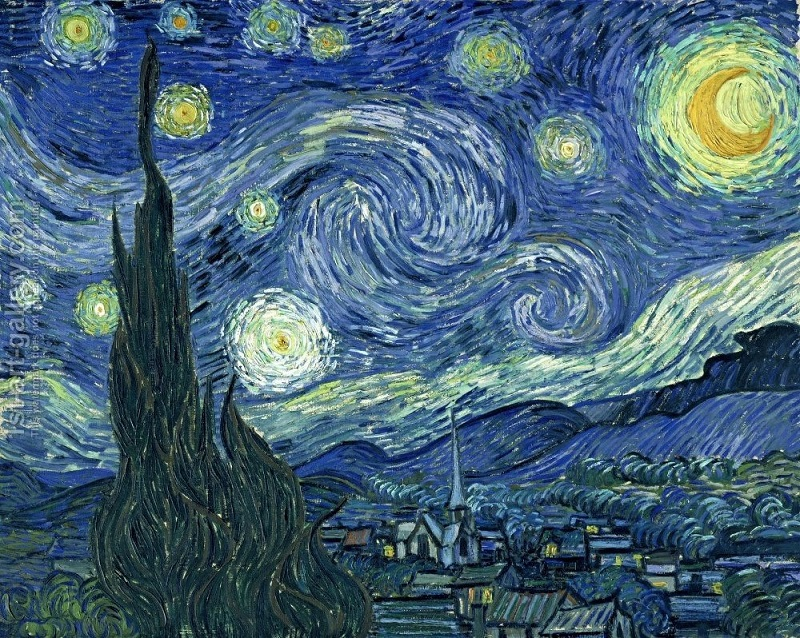 Lukisan Karya Vincent Van Gogh Berjudul Starry Night