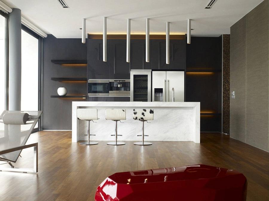 Dapur Minimalis Modern Hitam Putih