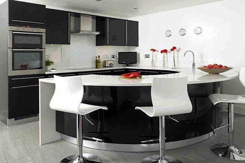 Desain Dapur Modern Hitam Putih