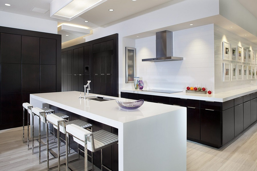 Desain Dapur Tema Hitam Putih
