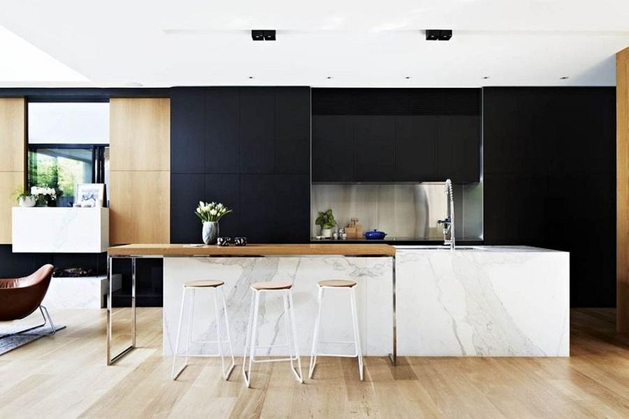 Desain Inspiratif Dapur Hitam Putih
