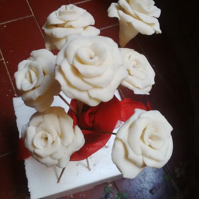 Mawar Putih Dari Sabun