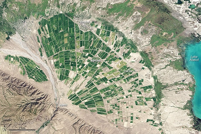 Contoh Kipas Aluvial Di Kazakhstan