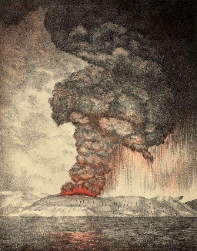 Letusan Gunung Krakatau Di Selat Sunda Pada Tahun 1993